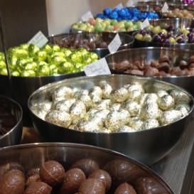 Friture en chocolat et praliné