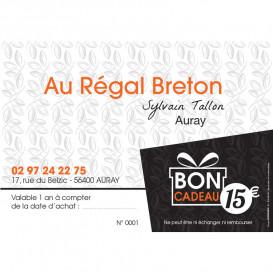 Bon cadeau 15€ Au Régal Breton